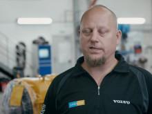 Servicetekniker Anton Laitamaa hos Swecon i Kiruna