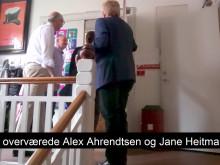 Jane Heitmann (V) og Alex Ahrendtsen (DF) på skolebesøg på Henriette Hørlücks Skole i Odense