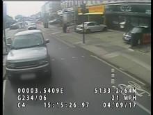 CCTV footage of suspect vehicle