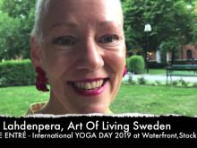 Swami Jyothirmayah och Pia Lahdenpera bjuder in till YOGA DAY2019 på Waterfront, Stockholm