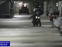 CCTV footage of motorbike theft