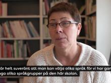 Rektor Carola Sandberg om Polyglutt skola
