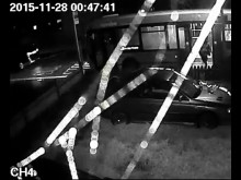 CCTV footage of hit and run