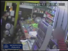 CCTV of the attack in the shop, Penge