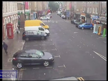 CCTV of Edwards following his victim
