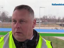 Hallandstrafiken Play om busstrafiken vid Fyllebro/Hallarna i Halmstad när Trafikverket reparerar