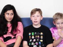 Barn om vad som är nyttigt och onyttig att äta