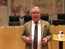 Kommunfullmäktiges ordförande Anders Teljebäck inför kommunfullmäktige 11 mars