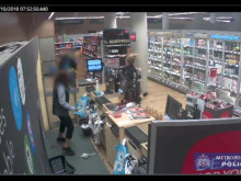 Footage of Wayne Frost carrying out knifepoint robbery