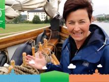 Lag West i Havskampen seglar T/S Britta under välgörenhetskampanj