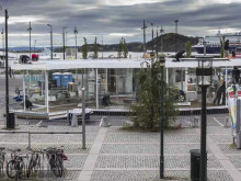 Byggingen av Hyundais IONIQ stand på Oslo S