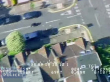 Footage from police helicopter of pursuit