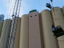 Det stora lyftet - maskinlyft vid silorivningen Örebro