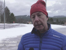 Intervju med Tommy Höglund som är Sportchef på Vasaloppet angående snöläget