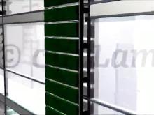 Fassadenbegrünung durch begrünte lebendige Lamellen
