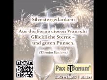 Pax et Bonum Verlag Silvestergrüße 2016