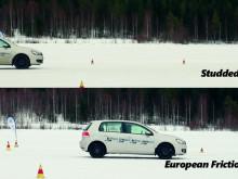 Bythjul Däcktest: Dubbdäck mot Europeiska friktionsdäck
