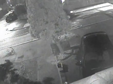 CCTV footage of the black van police wish to trace