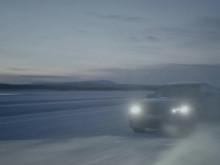 BMW i4 på vintertesting