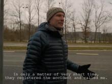 VNR - Tekstet: Biler redder liv: Martin kunne være død