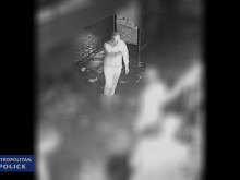 Moving footage of the man police wish to identify