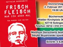 Lesung aus »Frischfleisch war ich auch mal« am 02.0.2017 in der Buchhandlung Bücherwald Solingen.