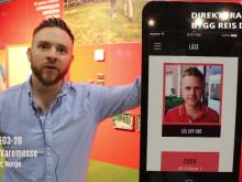 Aptus visar ny app på Bygg Reis Deg
