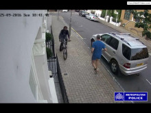 Video of the suspect on the cycle