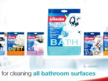 Vileda BATH kylpuhuoneen sieniliinalla kylpyhuoneen puhdistus käy helposti