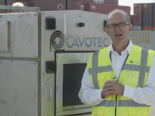 Cavotec e-truck charging solution at Port of Long Beach
