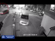 CCTV footage of five male suspects riding bikes