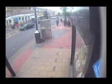 CCTV of man sought after stabbing