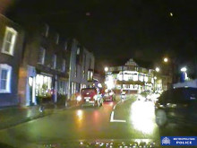 Dashcam footage of incident