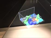 Hologramm: Datenvisualisierung zur Digitalkooperation mit der Schwenninger