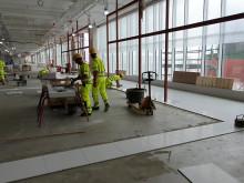 Golvimporten igång på Landvetter Airport