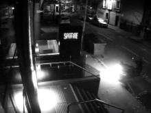 CCTV footage of moped arson