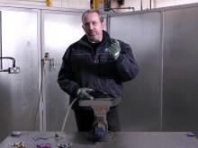 Borttagning av svets och ytkonditionering med Norton minivinkelslip