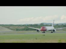 Boeing 787 Dreamliner letter fra OSL.