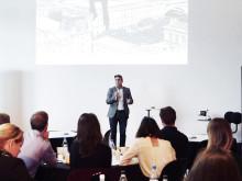 Johan Ödmark vd på Kista Science City pratar mod i Nod