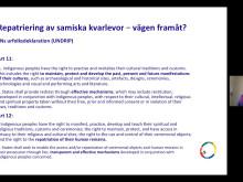LIVE sändning från Internationella urfolksdagen i Umeå och ONLINE