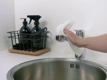 Hold din vandhane skinnende ren  - sådan holder du dit køkkenarmatur rent.