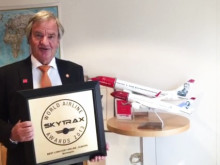 CEO Bjørn Kjos thanks both passengers and Norwegian employees for the Norwegian's Skytrax awards 2015