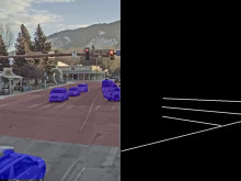 People and vehicle detection at street crossing - Deep learning demo of smart city application