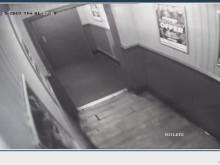 CCTV of Sesay entering women's toilets at a Bristol nightclub