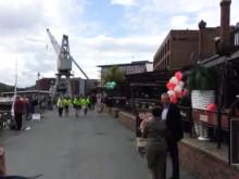 Syklistene ankommer målstreken i Trondheim