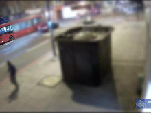 CCTV of the collision