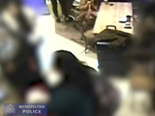 CCTV footage of the theft at a coffee shop at Central Bus Station