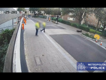 CCTV footage of car driven at officer