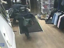 CCTV footage of the raid in Upper Street, N1