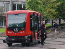 Autonomous  bus tested i Vaterlandsparken in Oslo
